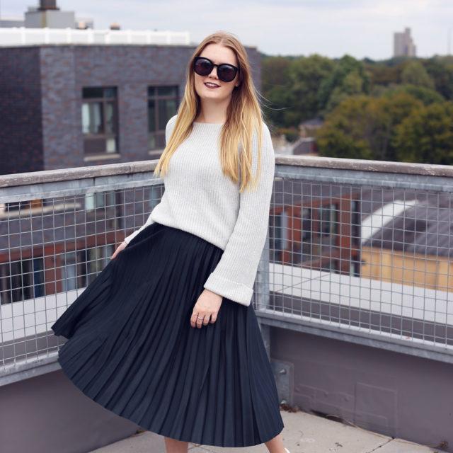Season Staple  |  Pleated Midi Skirt