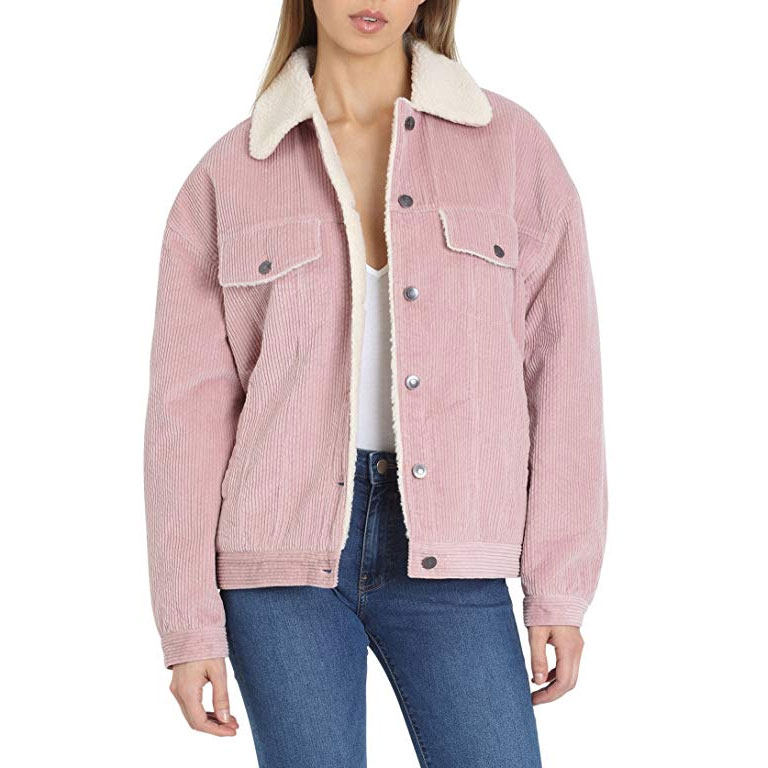 4f70b2be981f40 8. Pink Corduroy Jacket with Detachable Faux Fur Collar